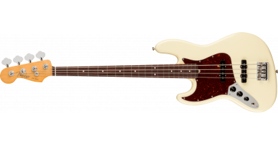 Fender American Professional 2 Jazz Bass Left-Hand, Rosewood Fingerboard, Olympic White