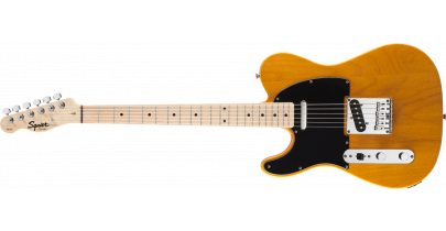 Squier Affinity Series Telecaster Pack, Butterscotch Blonde (Left-Handed)