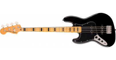 Squier Classic Vibe '70s Jazz Bass, Black (Left-Handed)