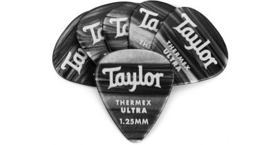 Taylor Premium 351 Thermex Ultra Picks, Black Onyx, 1.25mm, 12-Pack