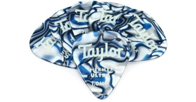 Taylor Premium 351 Thermex Ultra Picks, Blue Swirl, 1.00mm, 6-Pack