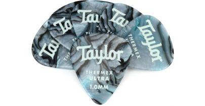 Taylor Premium 351 Thermex Ultra Picks, Abalone, 1.00mm, 12-Pack