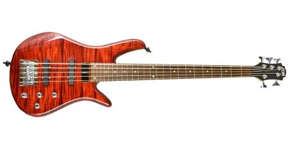 Pre-Owned Zon Sonus RT5 5-String Bass, Trans Red