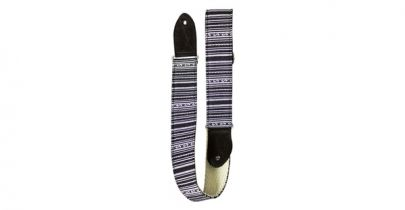 TGI Handcrafted Guitar Strap Inca Black And White