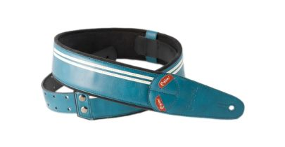 Right On Mojo Race Teal Guitar Strap