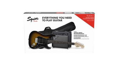 Squier Affinity Series Stratocaster HSS Pack, Brown Sunburst