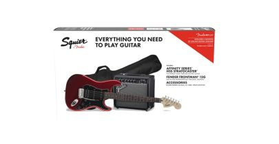 Squier Affinity Series Stratocaster HSS Pack, Candy Apple Red