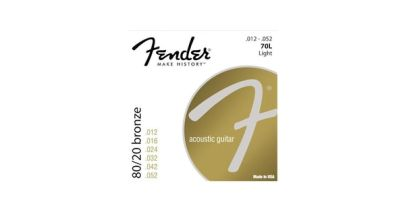 Fender 80/20 Bronze Acoustic Guitar Strings 12-52 70L
