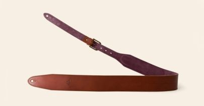 "Heistercamp Padded Strap, Tan, Burgundy, 38"" - 44"""