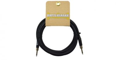 Rattlesnake Cables Standard 15ft, Straight to Straight, Black Weave