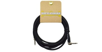Rattlesnake Cables Standard 15ft, Straight to Right Angle, Black Weave