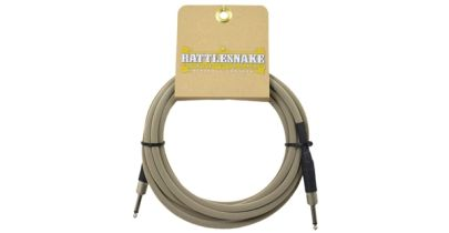 Rattlesnake Cables Standard 15ft, Straight to Straight, Dirty Tweed Weave