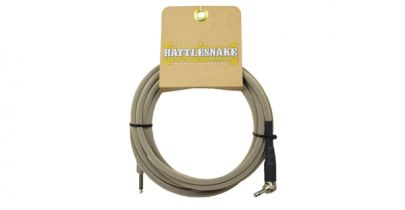 Rattlesnake Cables Standard 15ft, Straight to Right Angle, Dirty Tweed Weave