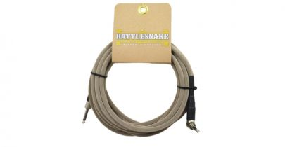 Rattlesnake Cables Standard 20ft, Straight to Right Angle, Dirty Tweed Weave