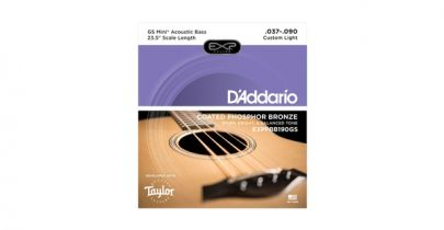 D'Addario EXPPBB190GS Coated Phosphor Bronze Acoustic, Taylor GS Mini Bass Scale, 37-90