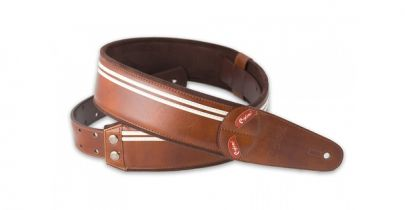 Right On Mojo Race Brown Guitar Strap