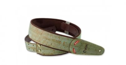 Right On Mojo Cork Teal Guitar Strap