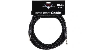 Fender Custom Shop Performance Series Cable, 18.6', Black Tweed