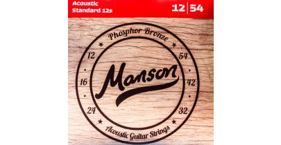 Manson Acoustic 12s Phosphor Bronze Strings Gauge 12-54