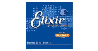 Elixir E12002 Nanoweb Electric Guitar Strings, Super Light, 9-42