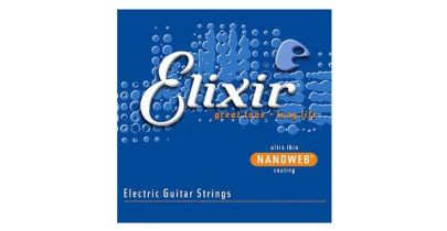 Elixir E12102 Nanoweb Electric Guitar Strings, Medium,11-49
