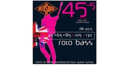 Rotosound RB45-5 Rotobass 45-130 Nickel Round Wound Bass Strings, 5 String Set
