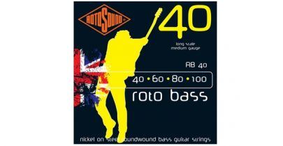 Rotosound RB40 Rotobass 40-100 Nickel Round Wound Bass Strings