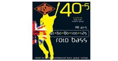 Rotosound RB40-5 Rotobass 40-125 Nickel Round Wound Bass Strings, 5 String Set