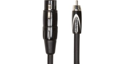 Roland Black Series Interconnect Cable, RCC-10-RCXF, 10ft XLR female to RCA