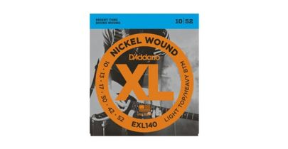 D'addario EXL140-3D Nickel Wound, Light Top/Heavy Bottom, 10-52
