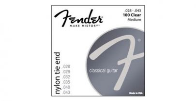 Fender Nylon Acoustic Strings, 100 Clear/Silver, Tie End, Gauges .028-.043, (6)