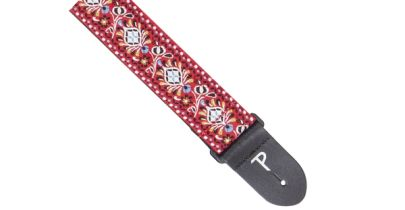 Perri's Leathers 7032 Jacquard Ribbon with Hindi Design Guitar Strap