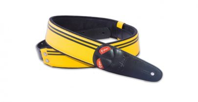 Right On Mojo Race Yellow Guitar Strap
