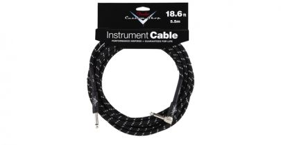 Fender Custom Shop Performance Series Cable, 18.6ft, Black Tweed