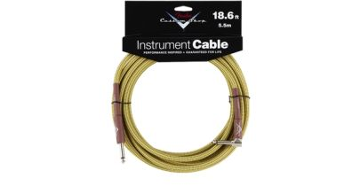 Fender Custom Shop Performance Series Cable, 18.6ft, Right Angle, Tweed