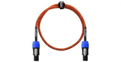 Orange Speaker Cable, Speakon to Speakon, 3ft