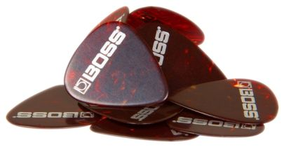 Boss BPK-12-SM, Medium Celluloid Shell Picks, 12 pack