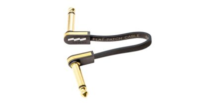 EBS Patch Cable Gold 90 Flat, 10cm