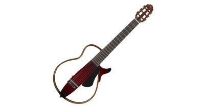 Yamaha SLG200N Nylon String Silent Guitar, Crimson Red Burst