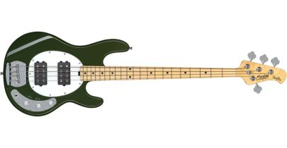 Sterling by Music Man Stingray Ray 4 HH, Olive