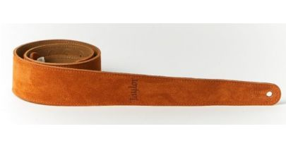 Taylor Guitar Strap, Honey Embroidered Suede 2.5""