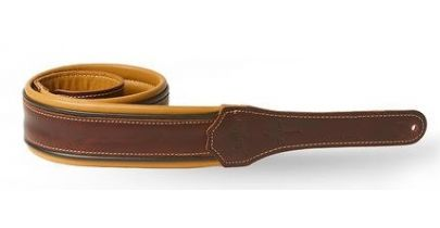 Taylor Ascension Guitar Strap, Cordovan/Black/Butterscotch
