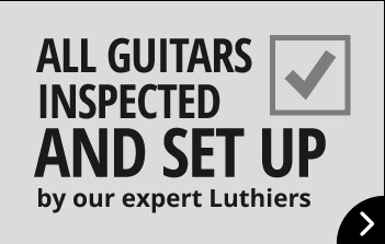 All guitars inspected and set up